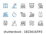 danger icons set. collection of ... | Shutterstock .eps vector #1823616593