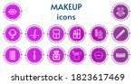 editable 14 makeup icons for...   Shutterstock .eps vector #1823617469