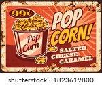 pop corn rusty metal plate ... | Shutterstock .eps vector #1823619800