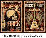 rock fest posters and flyers ... | Shutterstock .eps vector #1823619833