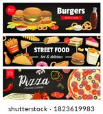 fast food vector banners...   Shutterstock .eps vector #1823619983
