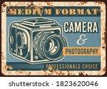 Photo Camera Rusty Metal Plate...