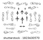 set of decorative elements for... | Shutterstock .eps vector #1823630570