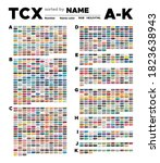 color table of the tcx colors... | Shutterstock .eps vector #1823638943