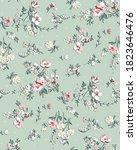 flower design textile vector... | Shutterstock .eps vector #1823646476
