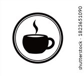 coffee cup icon isolated on...