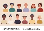 collection of portraits people... | Shutterstock .eps vector #1823678189