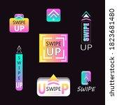 creative gradient swipe up icon ...