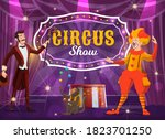 Circus Performers On Big Top...