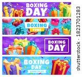 boxing day presents  vector...   Shutterstock .eps vector #1823701283