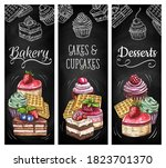 desserts  cakes and bakery... | Shutterstock .eps vector #1823701370