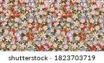 floral pattern. seamless...   Shutterstock .eps vector #1823703719