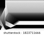 abstract halftone lines black... | Shutterstock .eps vector #1823711666