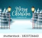 merry christmas vector... | Shutterstock .eps vector #1823726663