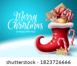 merry christmas vector... | Shutterstock .eps vector #1823726666