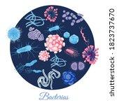 bacterial microorganisms in...   Shutterstock .eps vector #1823737670