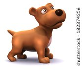 3d Render Of A Cute Dog From...