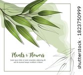 summer background with frame...   Shutterstock .eps vector #1823750999