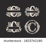 alphabet split monograms set ... | Shutterstock .eps vector #1823762180