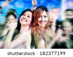 asian beautiful friends dancing ... | Shutterstock . vector #182377199
