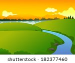 beautiful green nature with... | Shutterstock . vector #182377460