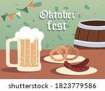 oktoberfest beer barrel...   Shutterstock .eps vector #1823779586
