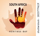 south africa heritage day ...   Shutterstock .eps vector #1823779619