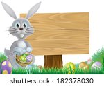 Easter Bunny Rabbit With A...
