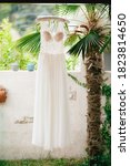 The Bride's Wedding Dress With...