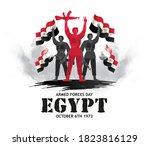 egypt holiday memorial day... | Shutterstock .eps vector #1823816129