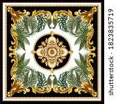 design scarf with baroque... | Shutterstock .eps vector #1823835719