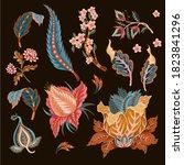 indian ethnic ornament elements.... | Shutterstock .eps vector #1823841296