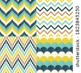 Vector Set Of Four Teal  Aqua...
