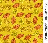 seamless pattern with oak ... | Shutterstock .eps vector #1823855219