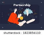business topics  partnership ... | Shutterstock .eps vector #1823856110