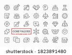 vector icon set of core values... | Shutterstock .eps vector #1823891480