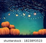 autumn poster with holiday... | Shutterstock .eps vector #1823893523