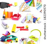 collage of materials for repair ... | Shutterstock . vector #182390570
