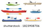 Kayak Boat. Vector Water Sport...