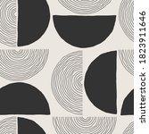 trendy minimalist seamless... | Shutterstock .eps vector #1823911646