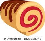swiss roll  illustration ...   Shutterstock .eps vector #1823928743