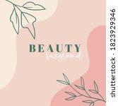 organic minimal trendy...   Shutterstock . vector #1823929346