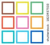 set of colorful wooden frames....   Shutterstock . vector #1823937533