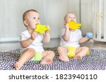Cute Happy Kids Play Together...