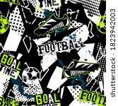abstract grunge football... | Shutterstock .eps vector #1823942003