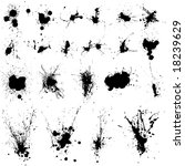 21 messy ink splats for your... | Shutterstock .eps vector #18239629
