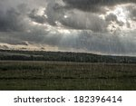 stormy clouds and summer spring ... | Shutterstock . vector #182396414