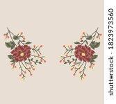 flower drawing like handmade... | Shutterstock .eps vector #1823973560
