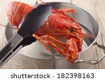 Cooked Lobster Is Taken From A...