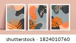 poster set with geometric... | Shutterstock .eps vector #1824010760